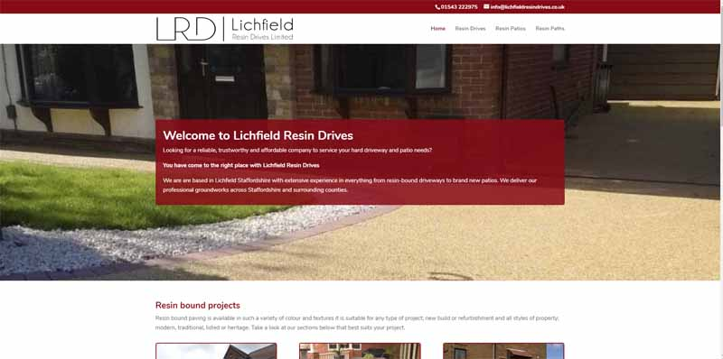 Lichfield Resin Drives Project