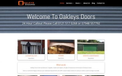 Website Launch Oakleys Doors